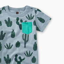 Print Pocket Romper - Prickly Cacti