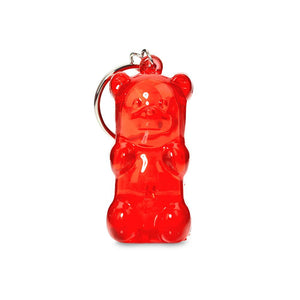 Light-Up Gummy Bear Keychain - Red