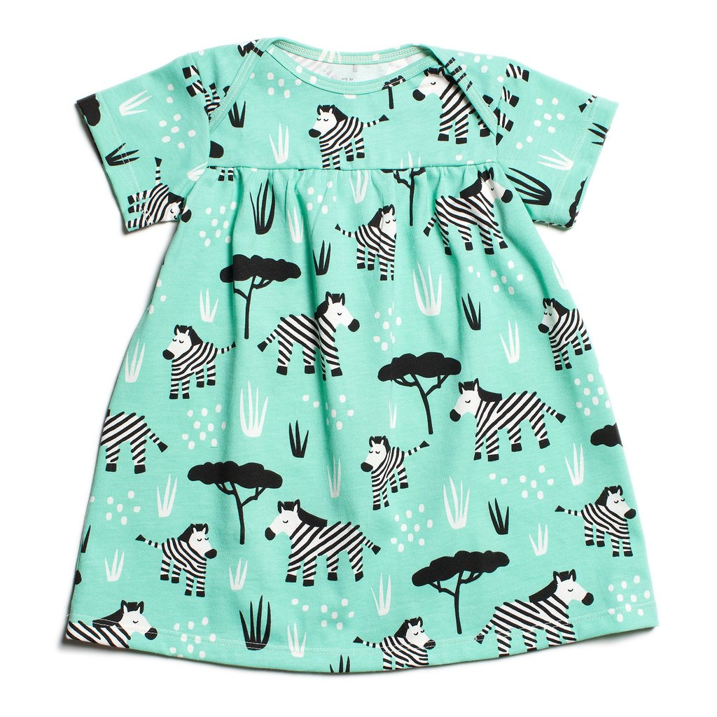 Lucca Dress - Zebras Mint