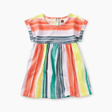 Watercolor Stripe Printed Empire Baby Dress