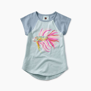 Thailan Beta Fish Raglan Tunic