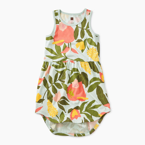 Tropical Garden Skirted Tank Dress