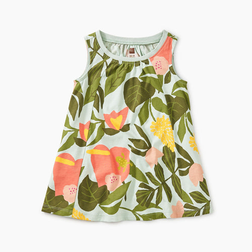 Tropical Garden Trapeze Baby Dress