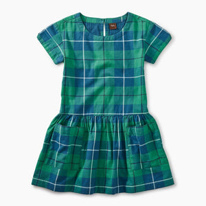 Woven Pocket Dress Tartan Plaid