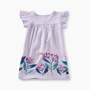 Graphic Wrap Neck Baby Dress