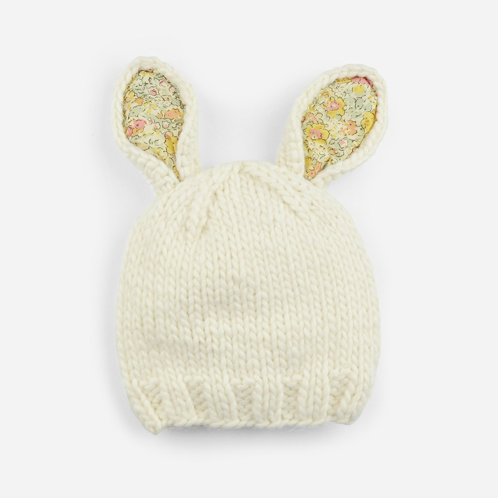 Bailey bunny hat with Liberty fabric