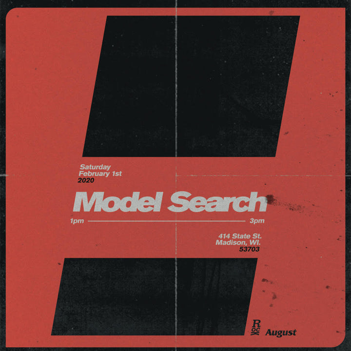 AUGUST :: MODEL SEARCH :: SATURDAY 02.01.2020