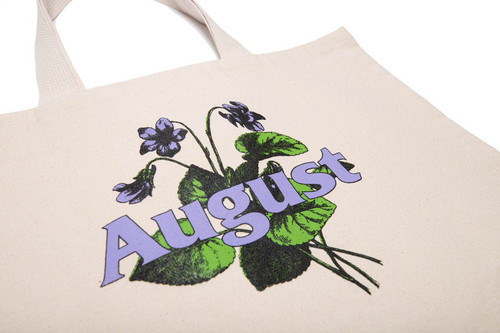 August State Flower Tote (Canvas)