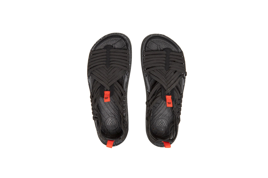 Malibu Sandals Rancho (Black/Orange) - August Shop
