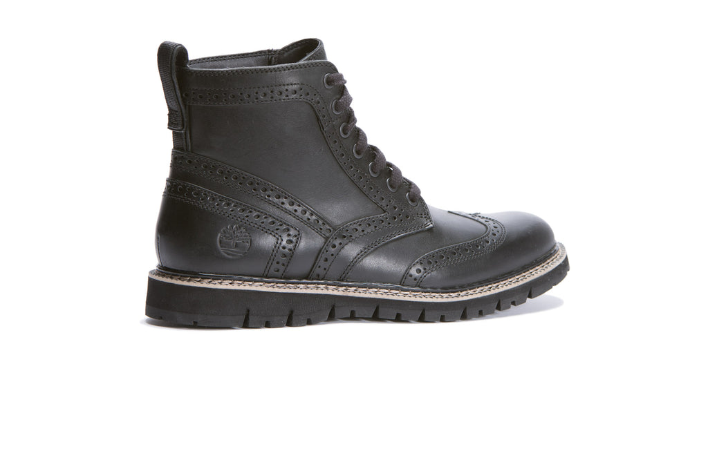 Timberland Britton Hill Wingtip Boot (Black Full Grain) - August Shop