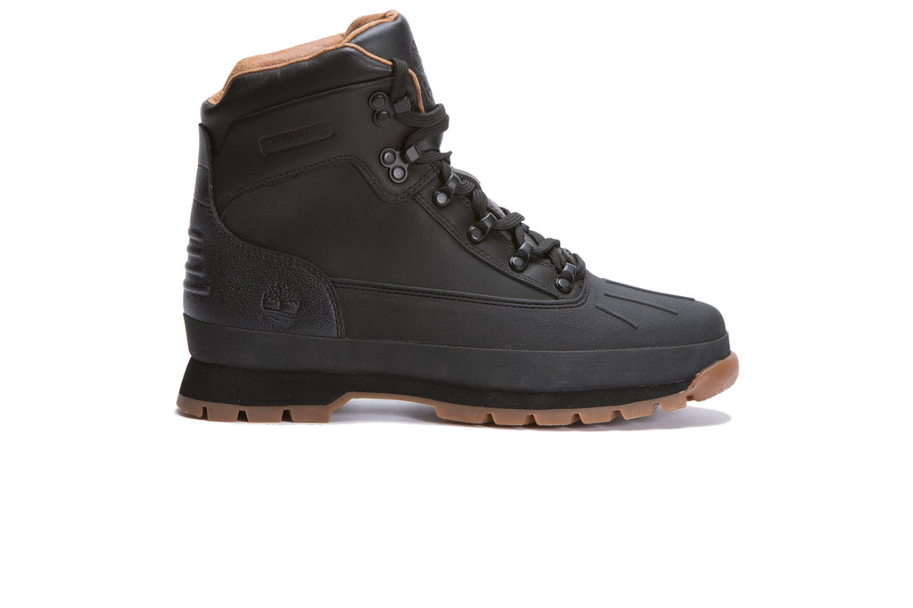 Timberland Shell-Toe Waterproof Euro Hiker Boot (Black Full Grain) - August Shop