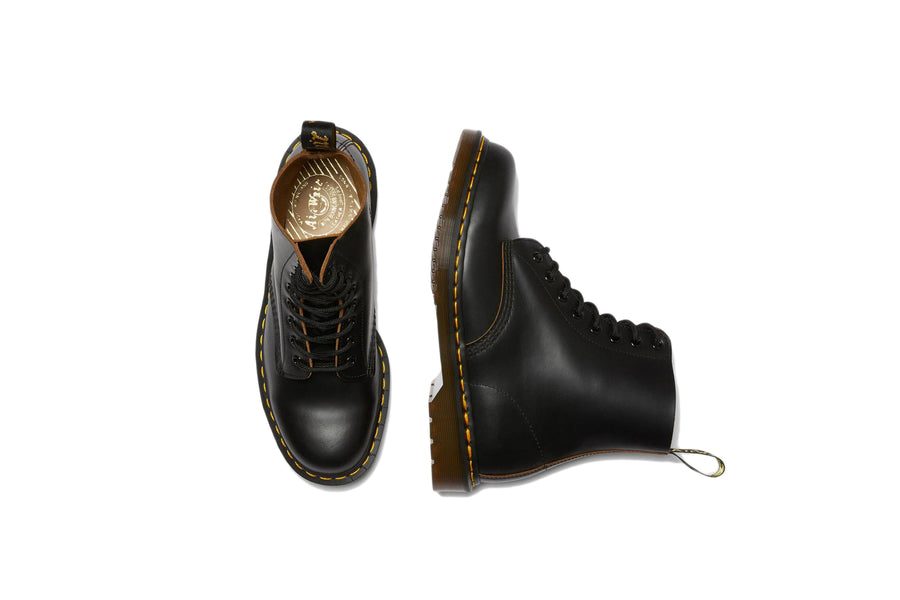 Dr. Martens 1460 Vintage Made In England Lace Up Boots (BLACK QUILON) - August Shop