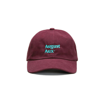 August Aux Logo Hat (Maroon/Turquoise) - August Shop