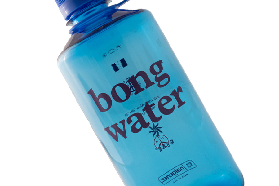 Mister Green Bong Water Nalgene Narrow Mouth Hardshell (Slate Blue/Blue Cap) - August Shop