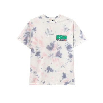 Real Bad Man Who Me? S/S Tee (White/Tie Dye) - August Shop