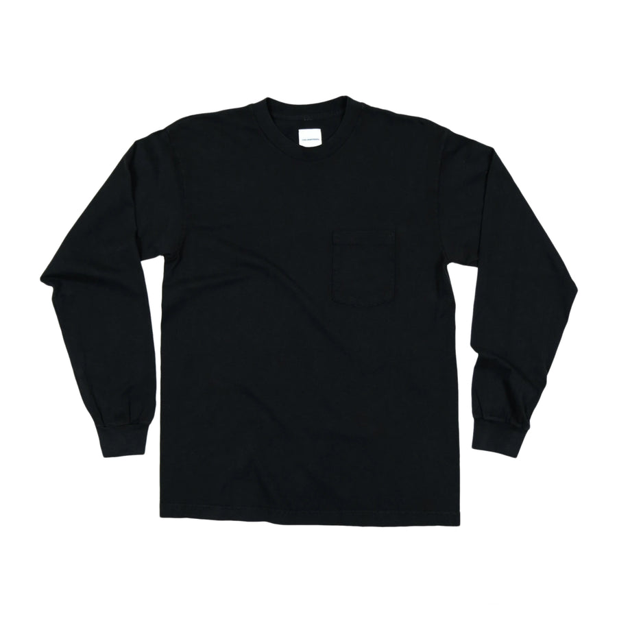 Cool Calm Studios Any More ?'s Long Sleeve Pocket T-Shirt (Black) - August Shop
