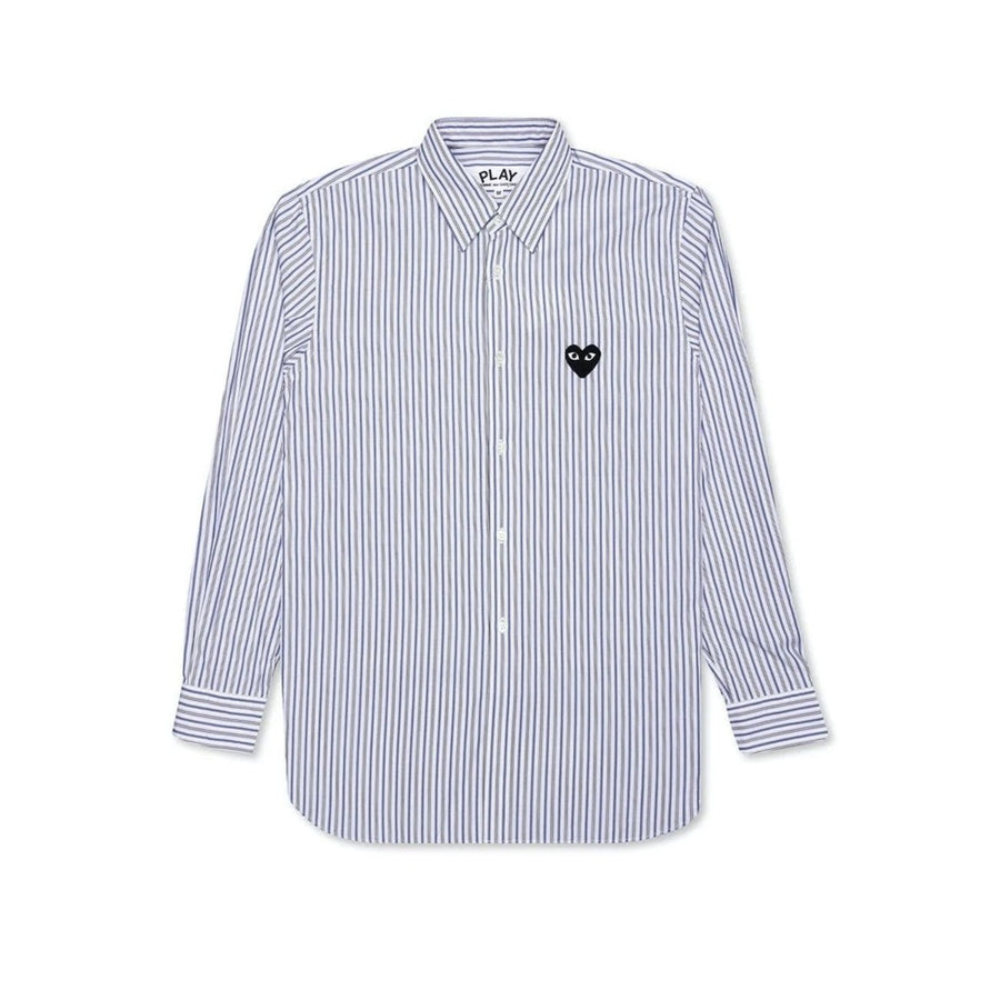 Comme des Garçons PLAY STRIPED SHIRT (Blue) - August Shop