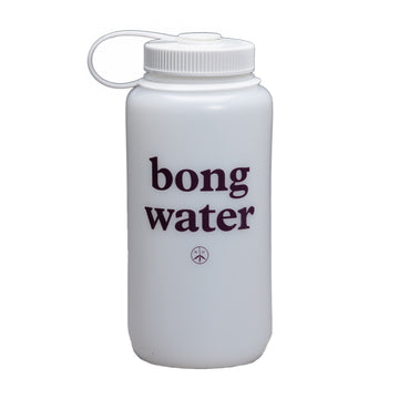 Mister Green Bong Water Nalgene Wide Mouth (White/White) - August Shop