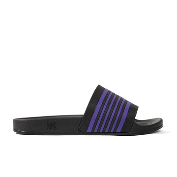 Needles Shower Sandals - Track Line (Black/Purple) - August Shop