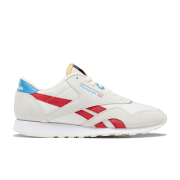 Reebok CL Nylon (Chalk/Scarlet/Cyan/White) - August Shop