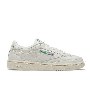 Reebok Women's Club C 85 Vintage (Chalk/Glen Green/Paperwhite/Excellent Red) - August Shop