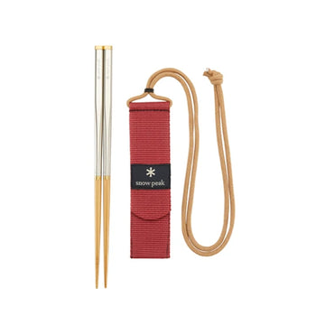 Snow Peak Wabuki Chopsticks (Bamboo/Stainless Steel/Brass) - August Shop