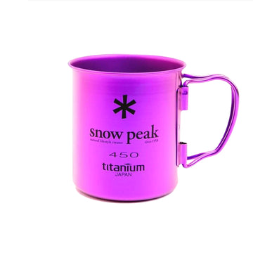 Snow Peak Ti-Single Wall 450 Cup (Purple) - August Shop