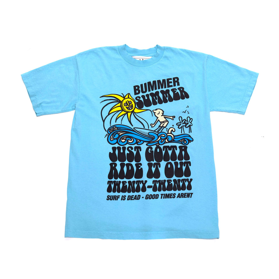 Surf Is Dead Ride It Out T-Shirt (Teal) - August Shop