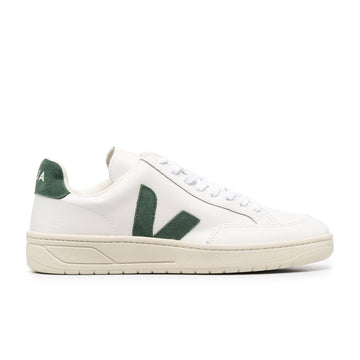 Veja V-12 Leather (Extra White/Cyprus) - August Shop
