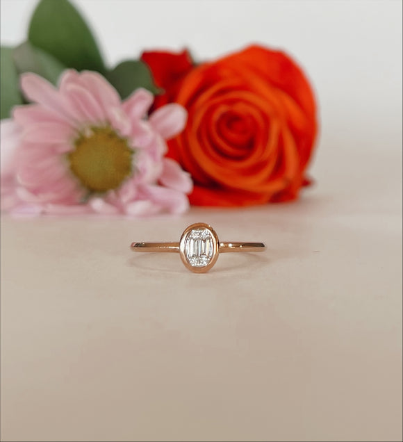 10K Rose Gold .07 CTW Diamond Ring