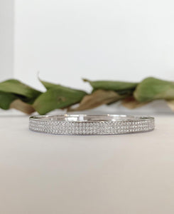 14K White Gold 2.0 CTW Diamond Bangle