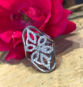 14K White Gold .66 CTW Snowflake Diamond Ring By Yanni B - The Jewelers Lebanon