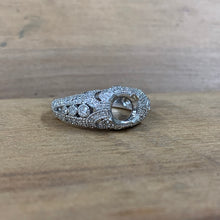 14K White Gold .69 CTW Semi-Mounting - The Jewelers Lebanon