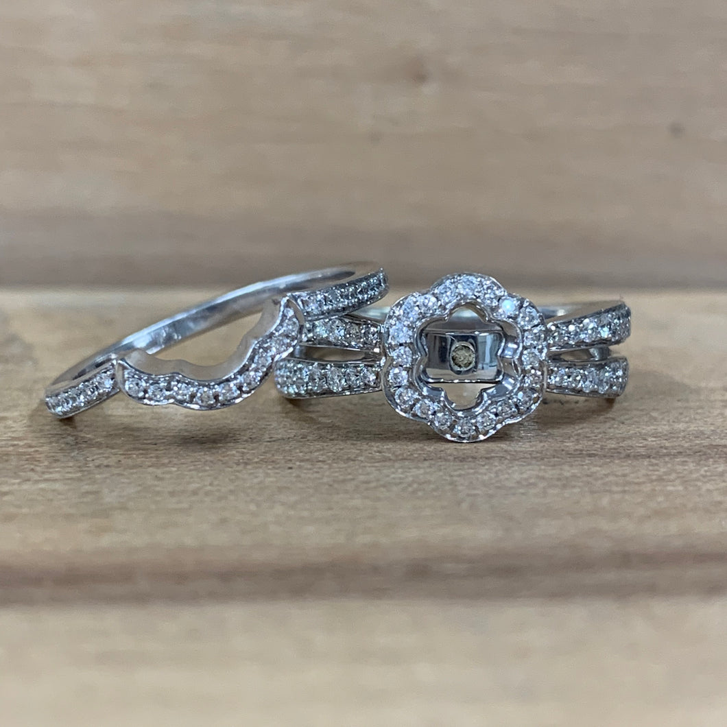 14K White Gold Semi-Mounting with Band - The Jewelers Lebanon