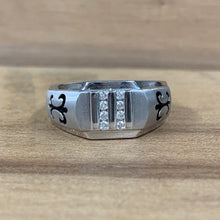14K White Gold Gothic Gents Ring - The Jewelers Lebanon