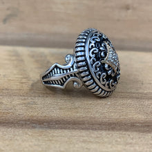 Sterling Silver & 14k Black Enamel and Diamond Ring - The Jewelers Lebanon