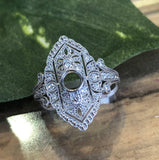 14K White Gold .34 CTW Diamond Semi-Mount Ring By Centuri