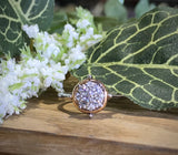 14K Two-Tone White & Rose Gold .33 Carat Diamond Ring by Yanni B - The Jewelers Lebanon