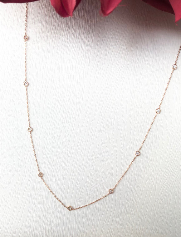 14K Rose Gold .50 CTW Diamond Necklace