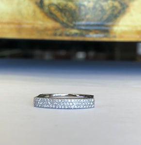 14k White Gold .19 CTW Roman & Jules Diamond Bar Band - The Jewelers Lebanon
