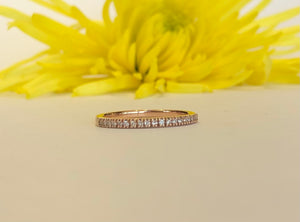 14K Yellow Gold .11 CTW Diamond Ring