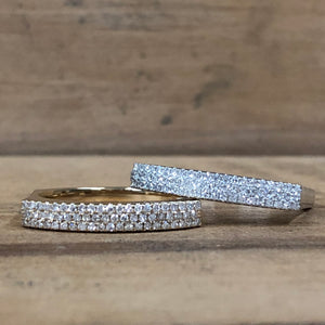 14k White Gold .19 CTW Diamond Bar Band - The Jewelers Lebanon