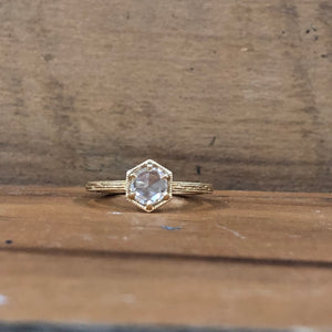 14K Yellow Gold Lumiere Rose Cut Diamond Ring - The Jewelers Lebanon