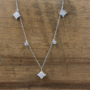 14K White Gold .20 CTW Diamond Necklace - The Jewelers Lebanon
