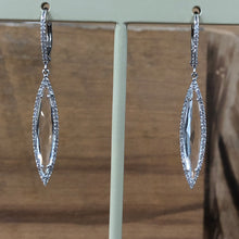Roman and Jules Diamond and White Topaz Dangle Earrings - The Jewelers Lebanon
