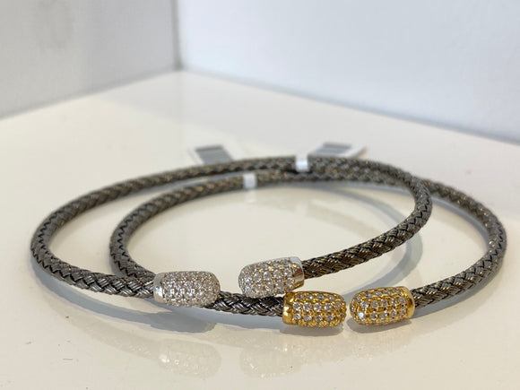 Sterling Silver with Diamond Accent Bracelet