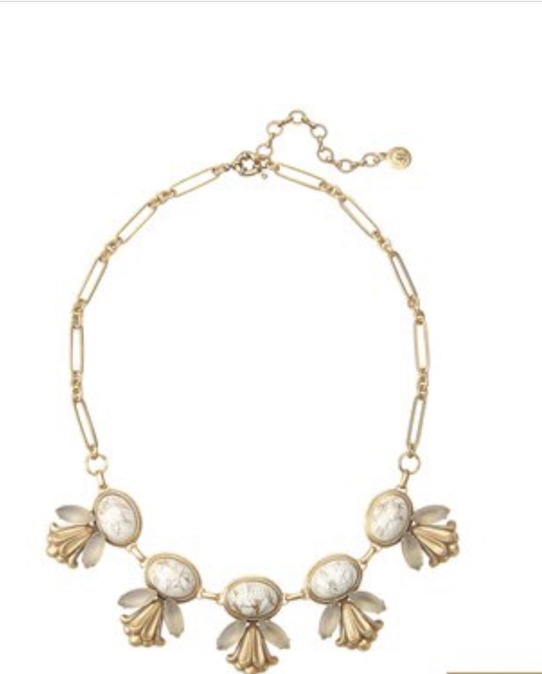 Emily Statement Necklace in White by Lilli Dokken - The Jewelers Lebanon