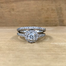 14K White Gold .38 Carat Center Diamond .75 CTW  Pave Engagement Ring w/ Band - The Jewelers Lebanon