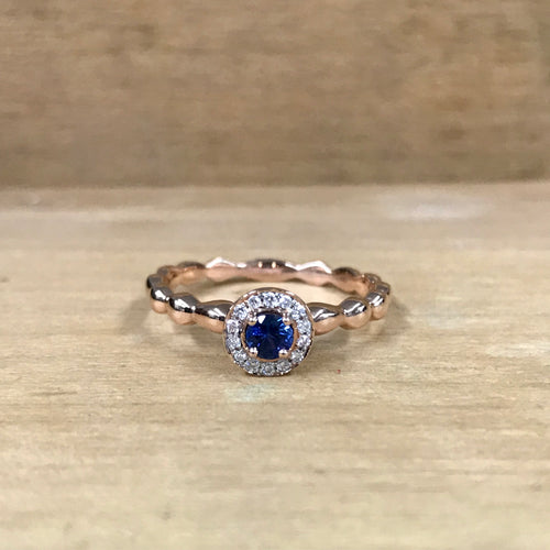 14K Rose Gold Sapphire & Diamond Ring - The Jewelers Lebanon