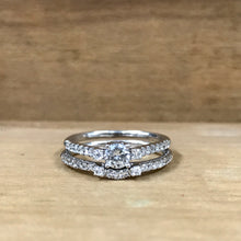 14K White Gold .29 Carat Round Center Diamond Engagement Ring w/Band - The Jewelers Lebanon